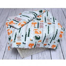 Kocyk z Ociepleniem Minky Las Pomarańczowy 80cm x 100cm