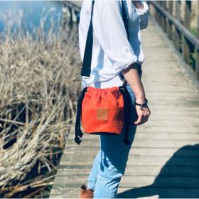 Mała torebka Mili Bucket Bag - miedziana pomarańcza