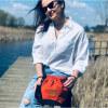 Mała torebka Mili Bucket Bag - miedziana pomarańcza 3