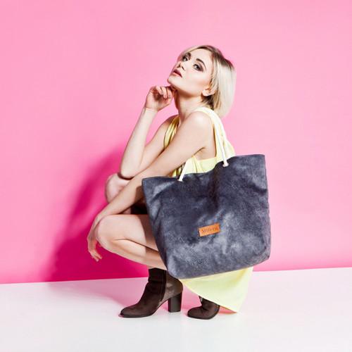Duża torba Mili Chic MC1 – szara