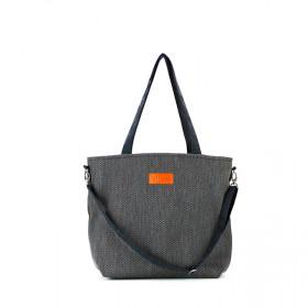 Duża torba shopper Mili Duo Braid MDB1- czarna