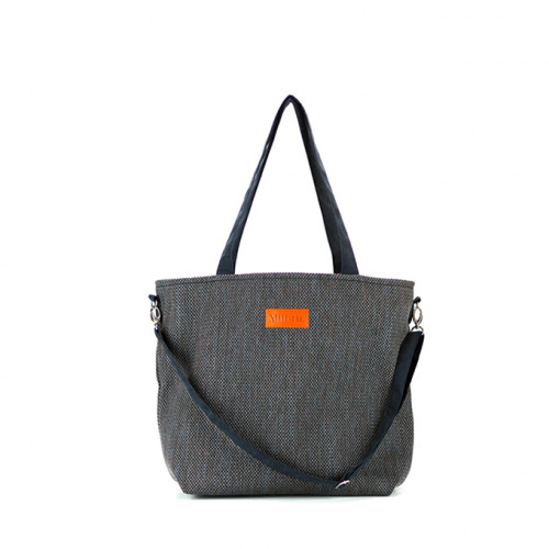 Duża torba shopper Mili Duo Braid MDB1- czarna