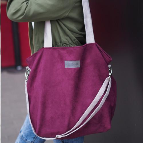Duża torba shopper Mili Duo MDB1- burgund