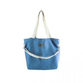 Duża torba shopper Mili Duo MDB1- niebieska