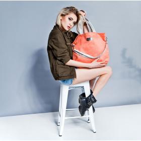 Duża torba shopper Mili Duo MDB1- pudrowy róż