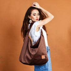 Duża torba worek  Mili Chic MC7 –brązowy