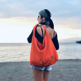 ab61ea2fd04af Duża torba worek Mili Chic MC7 –pomarańczowy