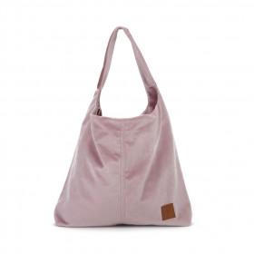 Duża torba worek  Mili Chic MC7 –pudrowy różowy