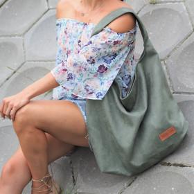 Duża torba worek  Mili Chic MC7 –zielona