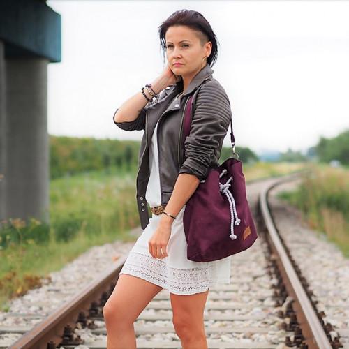 Mała torba - worek Mili Chic MC8 –burgund