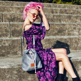 Mała torba - worek Mili Chic MC8 –szary