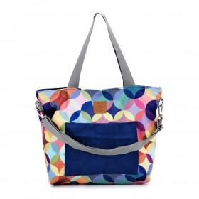 Torba shopper Mili Chic MC6 – kolorowe koła