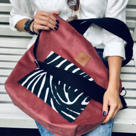 Torba shopper Mili Chic MC6 – różowa zebra