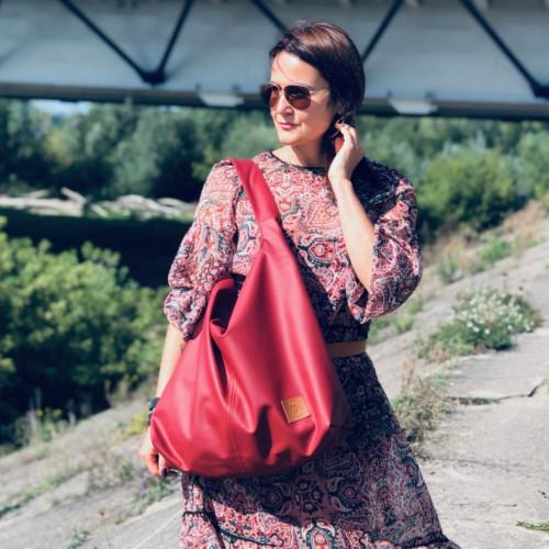 Duża torba worek  Mili Chic MC7 –czerwona