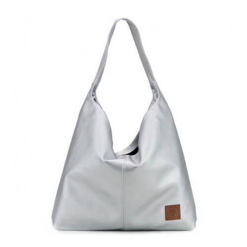 Duża torba worek  Mili Chic MC7 –srebrna