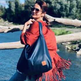 Duża torba worek  Mili Chic MC7 –granatowa