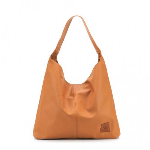 Duża torba worek  Mili Chic MC7 –koniak beż