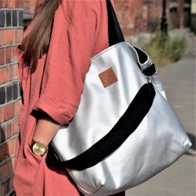 Duża torba typu shopper Mili Duo MD2 - srebrna