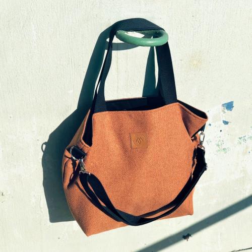 Duża torba typu shopper Mili Duo MD2 - rudy brąz