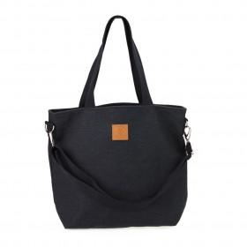 Duża torba typu shopper Mili Duo MDB2 - czarna