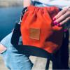 Mała torebka Mili Bucket Bag - miedziana pomarańcza 2