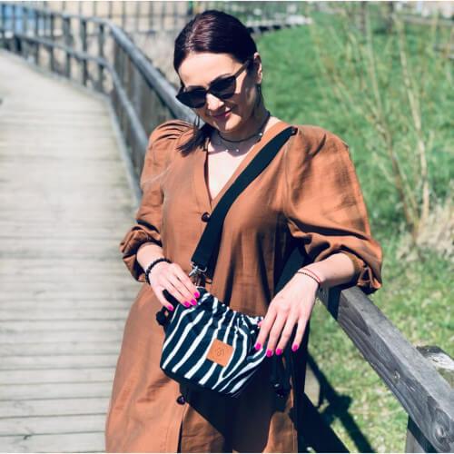 Mała torebka Mili Bucket Bag - zebra