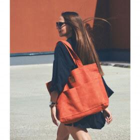 Torba typu shopper Mili City Vibes - miedziana pomarańcza