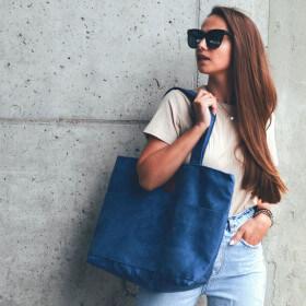 Torba typu shopper Mili City Vibes - niebieska