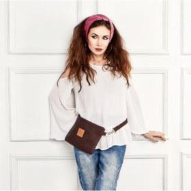 Mała torebka z korka Mili Corco Bag - czekoladowy brąz