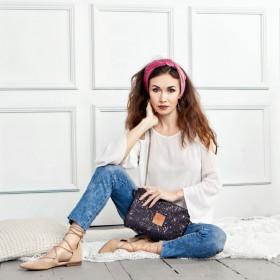 Mała torebka z korka Mili Corco Bag -  czarna