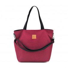 Duża torba typu shopper Mili Duo MDB2 - burgund