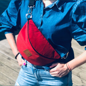 Nerka saszetka Mili Belt Bag L - czerwona