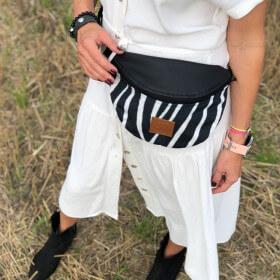 Nerka saszetka Mili Belt Bag L - zebra