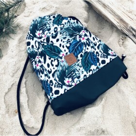 Plecak torba Mili Funny Bag – kwiaty/panterka