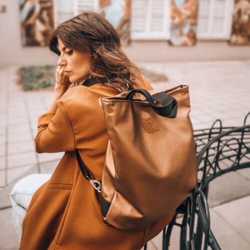 Torba/ plecak Mili Urban Jungle L - brąz/złoto