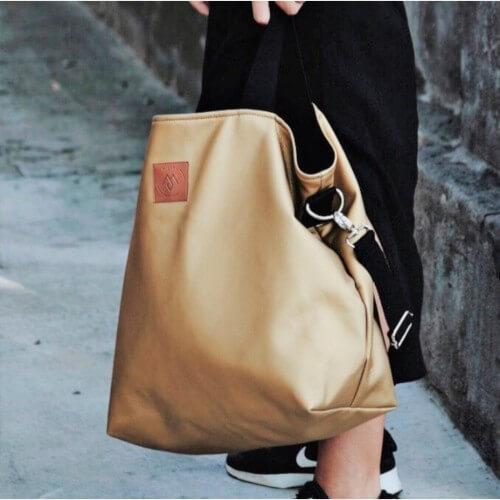 Duża torba typu shopper Mili Duo MD2 - złota