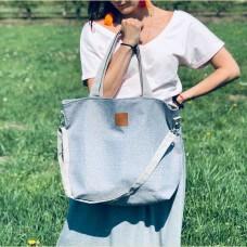 Duża torba shopper Mili Duo Braid MDB1 - szara