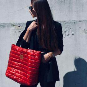 Torba typu shopper Mili City Glow- czerwona