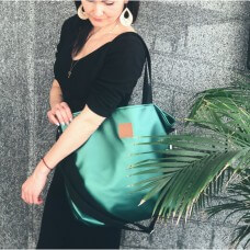 Duża torba typu shopper Mili Duo MD2 - butelkowa zieleń