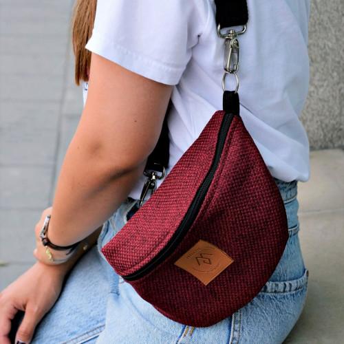 Nerka saszetka Mili Belt Bag L - bordowa