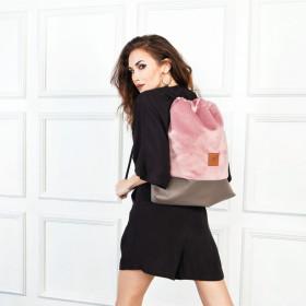 Plecak torba Mili Funny Bag – pudrowy różowy