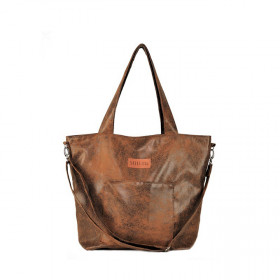 Torba shopper  Mili Chic MC6 – brązowa