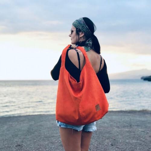 Duża torba worek  Mili Chic MC7 –miedziana pomarańcza