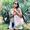 Duża torba worek  Mili Chic MC7 –pudrowy różowy 2