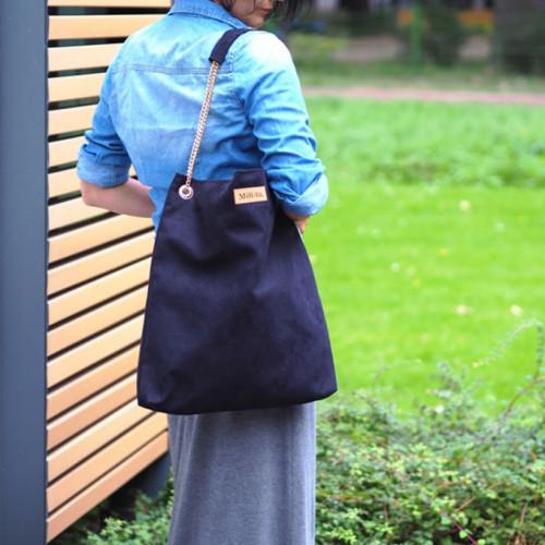 Torba worek na łańcuszku Mili Chic MC5 – czarna