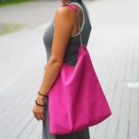 Torba worek na łańcuszku  Mili Chic MC5 –różowa