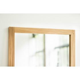 Minimalistyczne lustro Kunsst z ramką z litego drewna dębu