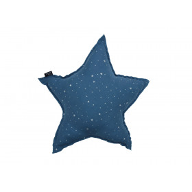 PODUSZKA GWIAZDA MUŚLINOWA Stardust Blue