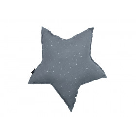 PODUSZKA GWIAZDA MUŚLINOWA Stardust Grey