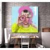 """Obraz na płótnie  """"Lady Donut"""" 90x90 cm 3"""